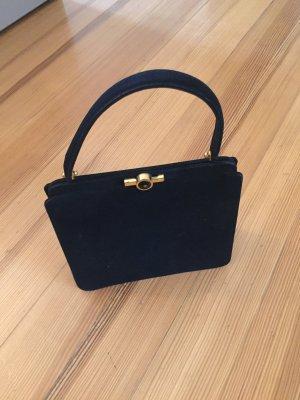 Bolso con correa negro-color oro