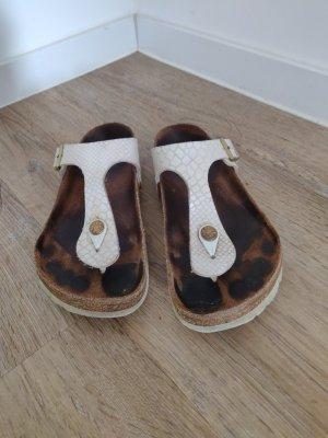 Original Birkenstock Sandale in beige Schlangenoptik 37, schimmernd,