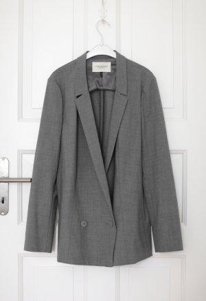 Original Blazer von Halston Gr. M Grau Oversized Vintage Lool Grey Boyfriend