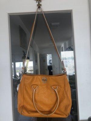 Original Blugirl Italy Handtasche mit Umhängegurt Leder Gelb Wie NEU