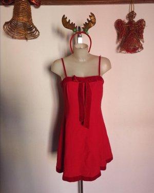 Original Blumarine Kleid Gr 36-38 S rot Weihnachten Samt