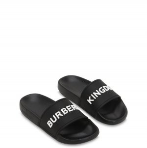 Burberry Comfort Sandals black-white
