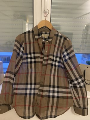 Burberry London Camicia blusa color cammello Lana
