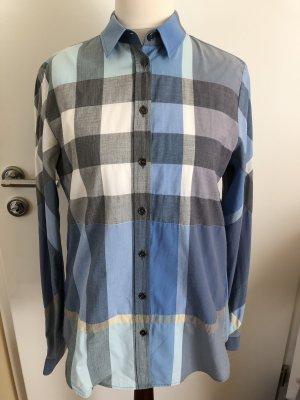Original Burberry Brit Nova Check Bluse blau Gr S