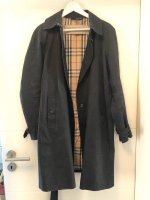 Original Burberry Brit trenchcoat UK12 40 IT44 Dunkelblau Novacheck