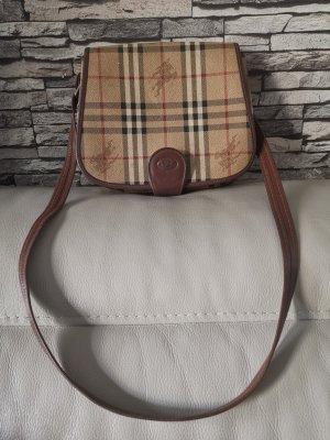Original Burberry Burberrys Umhängetasche Tasche Vintage Reiter Nova Muster