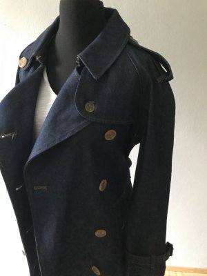 Burberry Trench Coat dark blue cotton