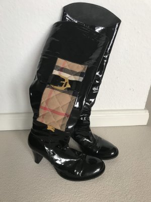Burberry Heel Boots black-cream