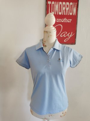 Burberry London Polo Shirt baby blue cotton