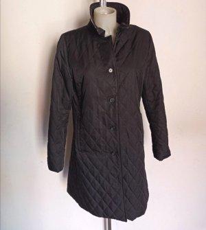 Burberry Pikowany płaszcz ciemnoniebieski