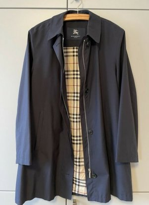 Original Burberry Mantel dunkelblau Gr.36/38 S/M Trenchcoat blau Jacke leicht