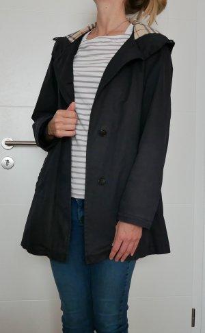 Burberry Capuchon jas zwart-donkerblauw