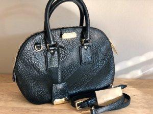 Original Burberry Orchard Embossed Bowling Bag Leder Gold Luxus Blogger Staubbeutel