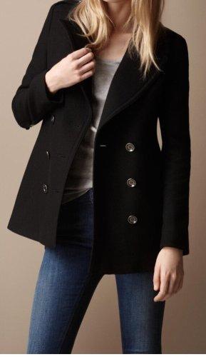 Burberry Wełniany sweter czarny Wełna