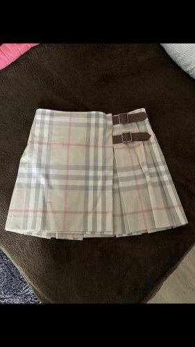 Burberry Plaid Skirt cream
