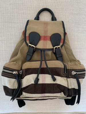 Original Burberry Rucksack Check Canvas Medium