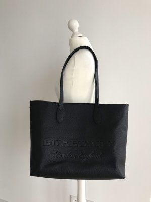 Burberry Shopper black leather