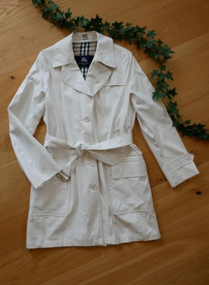 Burberry Trench Coat natural white-oatmeal cotton