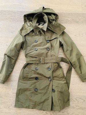 Burberry Trench verde oliva Poliestere