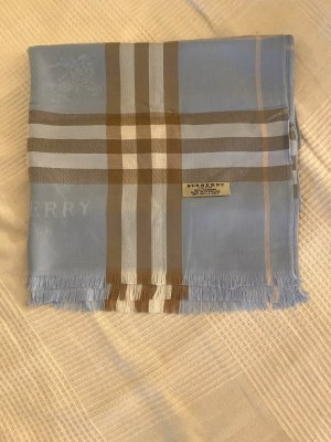 Burberry Cashmere Scarf baby blue