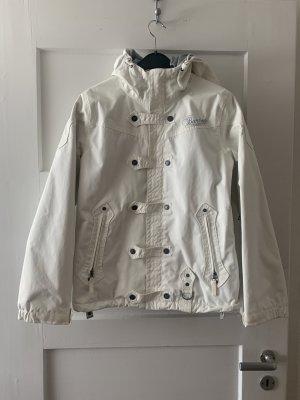 Burton Giacca sport bianco-grigio chiaro Poliammide