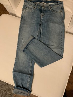 Cambio Tube jeans staalblauw-korenblauw