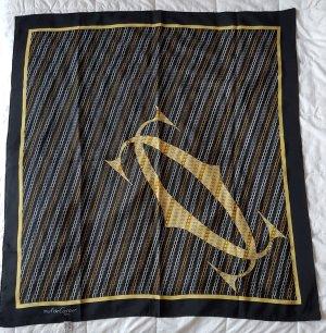 Cartier Silk Scarf white-black silk