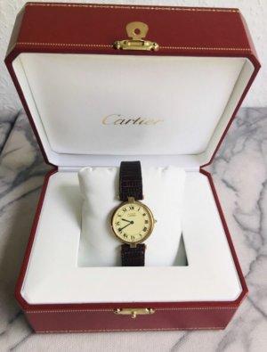 Cartier Zegarek ze skórzanym paskiem Wielokolorowy