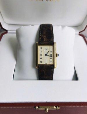 Original Cartier Vermeil Uhr inkl. Uhrenbox