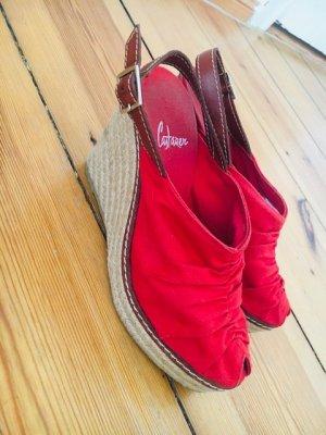 Castañer Espadrille rouge-rouge brique
