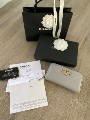 Chanel Wallet grey leather
