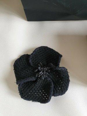 Chanel Broche zwart Katoen