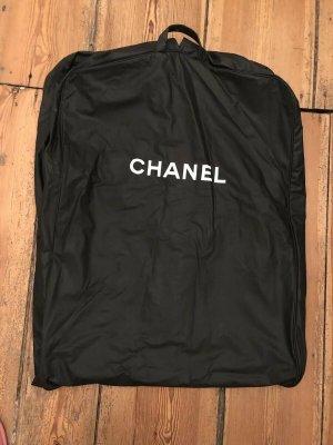Chanel Pokrowiec na ubrania czarny-biały Poliuretan