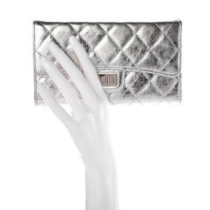 Chanel Clutch silver-colored