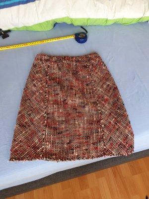 Chanel Tweed Skirt black-red
