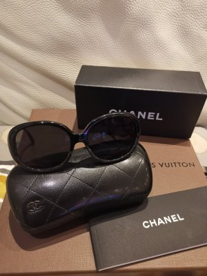 Chanel Round Sunglasses black mixture fibre