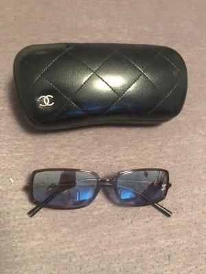 Chanel Occhiale da sole rotondo marrone-azzurro