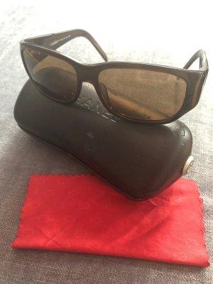 Chanel Occhiale da sole spigoloso marrone-nero