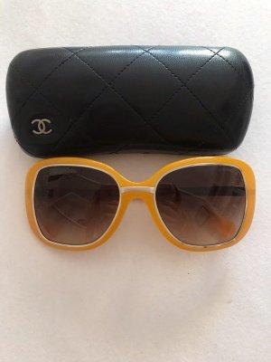 Chanel Bril goud Oranje-brons Glas