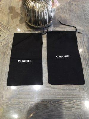 Chanel Bolso de tela blanco-negro