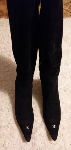 Chanel Laarzen met hak zwart
