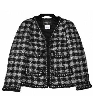 Original Chanel Tweed Jacke FR 42