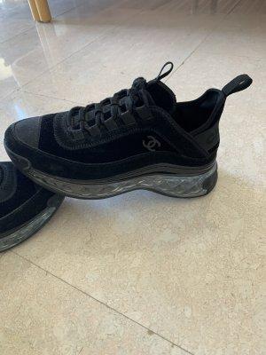 Chanel Sneaker con tacco nero-argento