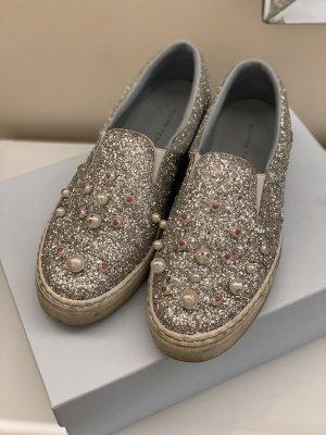 Original Chiara Ferragni Sneaker Turnschuhe Slip on Perlen Glitzer 40