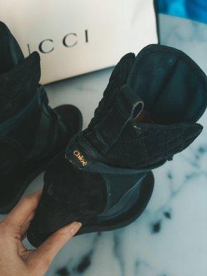 Chloé Trampki klinowe czarny-ciemnoniebieski