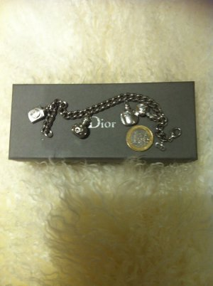 Christian Dior Charm Bracelet silver-colored real silver
