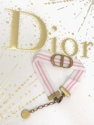 Original Christian Dior Armband Metall CD Logo & Stoff