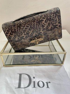 Original Christian Dior D-bee Clutch aus Schangenleder