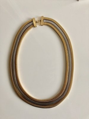 Original Christian Dior Kette 18 kt vg Gold 1971 Luxus Vintage Goldkette Bicolor Necklace collier massiv