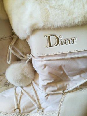 Christian Dior Futrzane buty w kolorze białej wełny